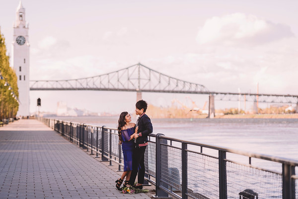 Wedding Photographer Montreal | Engagement Photography | Old Montreal | Vieux Port | Lindsay Muciy Photo + Video