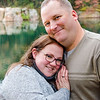 Engagement photo of couple in granite quarry