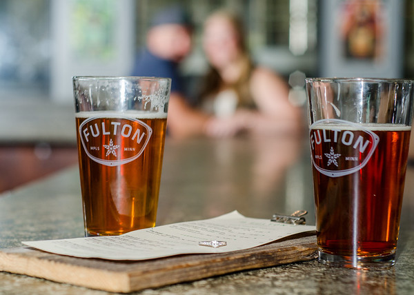 Fulton beer engagement session