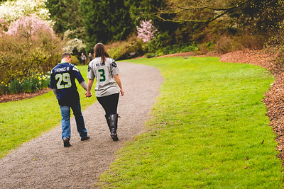 Seattle Arboretum Engagement Photographer