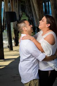 Hannah and Vince's engagement shoot at Capitola Beach