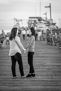 Sunset Engagement Photography Session with Megan and Emily at Capitola Beach, California