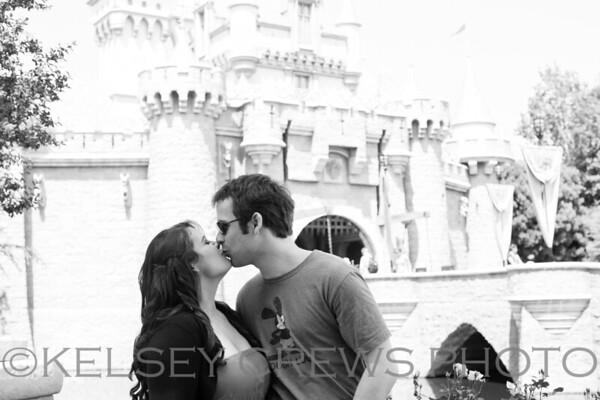 CC and Jeremy's Disneyland Engagement Session