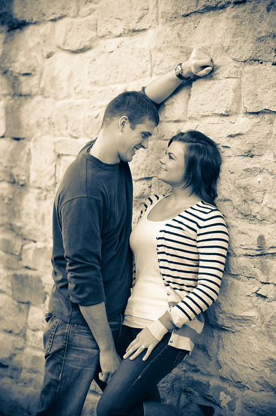 Engagement portrait at The Bishop's House Boise. Photo by Mike Reid, All Outdoor Photography.