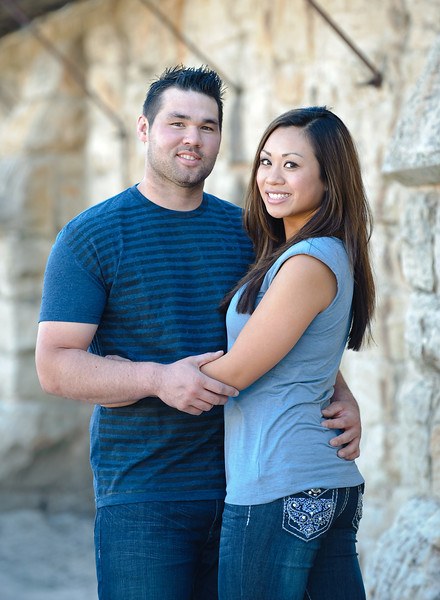 Palina and Steve's engagement portraits by the Old Idaho Penitentiary and The Bishop's House in Boise, by All Outdoor Photography.