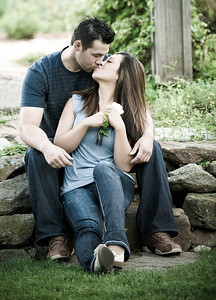Steve and Palina's engagement portraits at The Bishop's House Boise, by All Outdoor Photography.