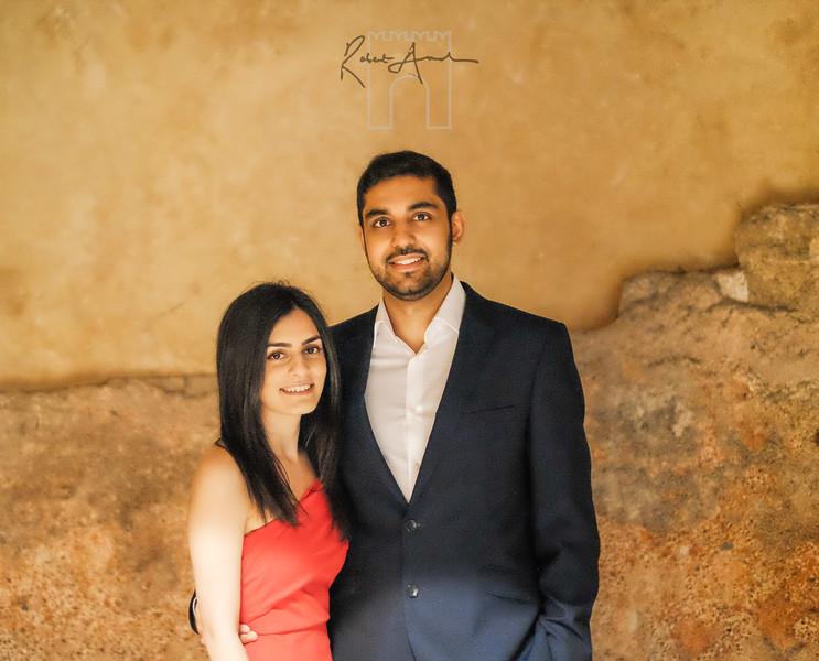 newly engaged couple ,brinda and kishan