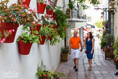 Engagement Shoot Photographed in Old town Marbella