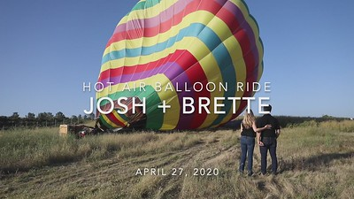 Josh + Brette Hot Air Balloon Ride