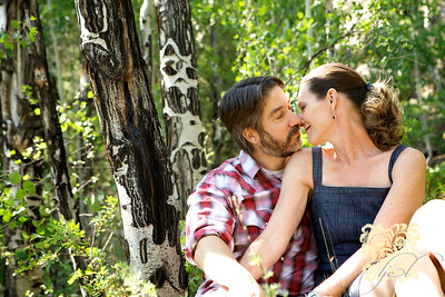Annette and Mark's mini engagement session at Lumpy Ridge Trailhead in Estes Park on June 18, 2012.   copyrighted