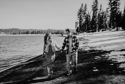 Alexandria Vail Photography Shaver Lake Engagement Session  BW010