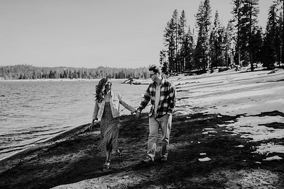 Alexandria Vail Photography Shaver Lake Engagement Session  BW009
