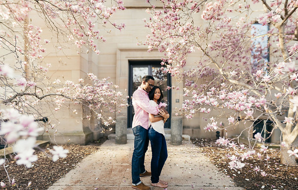 ashley + ryan | engagement | university of michigan campus, ann arbor
