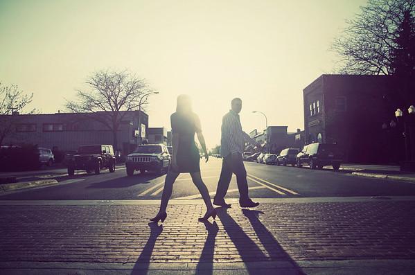 beth + jeff | engagement | downtown brighton