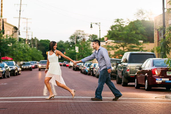 carissa + ricky | engagement | downtown grand rapids