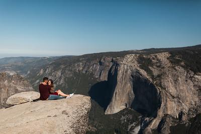 Chris   JeanAnn Taft Point Yosemite Engagement Session 025