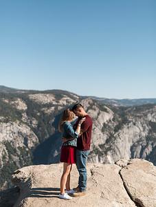Chris   JeanAnn Taft Point Yosemite Engagement Session 010