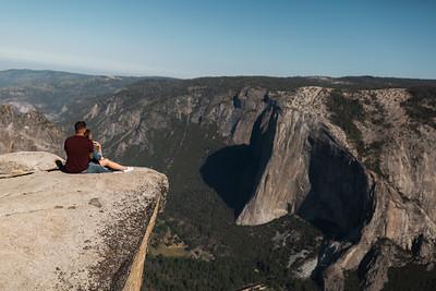 Chris   JeanAnn Taft Point Yosemite Engagement Session 015