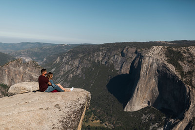 Chris   JeanAnn Taft Point Yosemite Engagement Session 018
