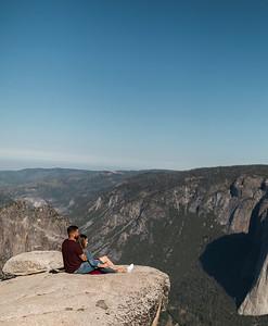 Chris   JeanAnn Taft Point Yosemite Engagement Session 019