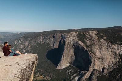 Chris   JeanAnn Taft Point Yosemite Engagement Session 023