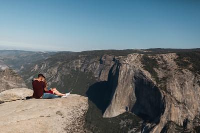 Chris   JeanAnn Taft Point Yosemite Engagement Session 026