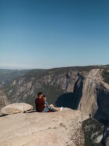Chris   JeanAnn Taft Point Yosemite Engagement Session 020