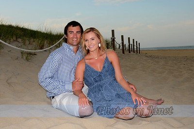Christina & Drew Engagement Beach Portraits 8-6-16