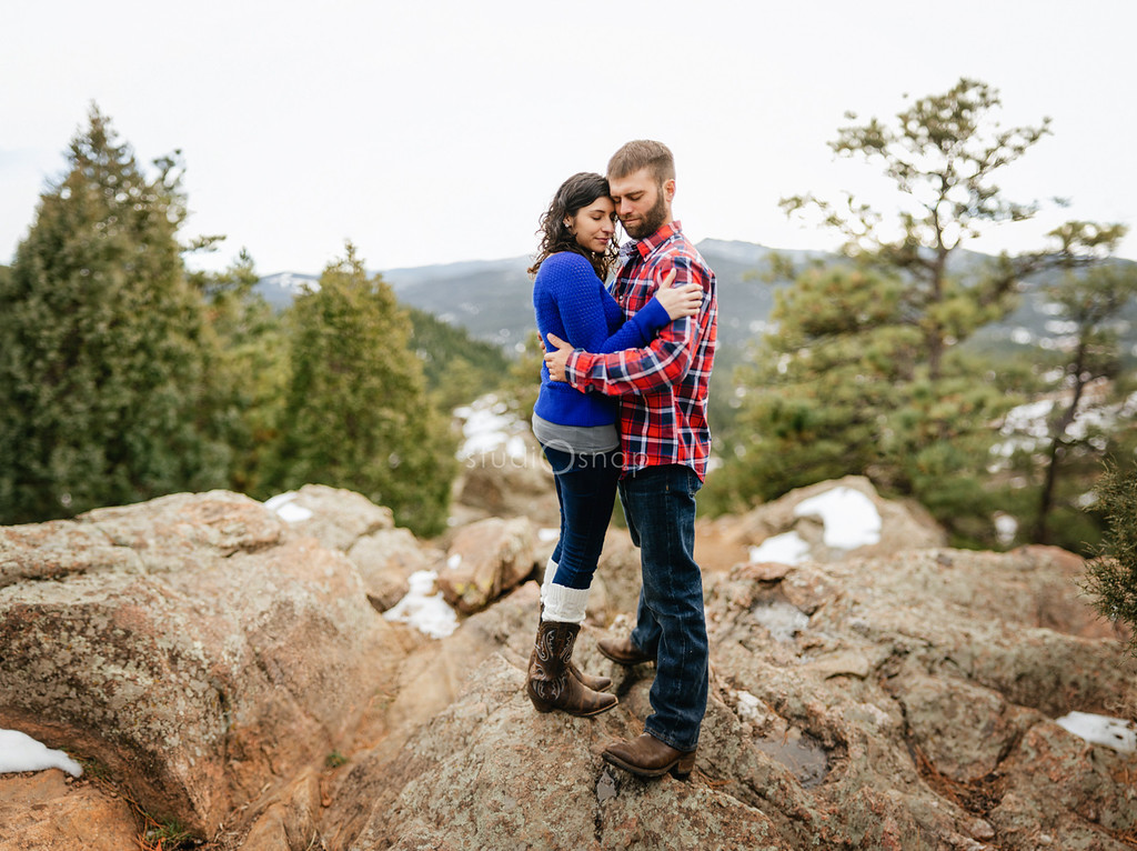 elicia + tom | destination engagement | rocky mountain national park, red rocks amphitheater, denver