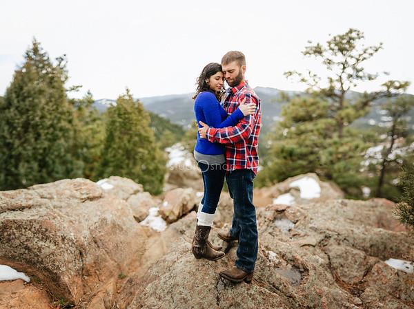 elicia + tom | destination engagement | rocky mountain national park, red rocks amphitheater, denver