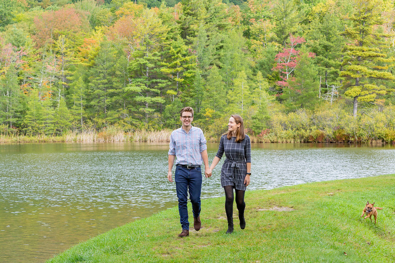 Fall Engagement Photography Southern VT-15