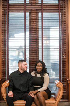 Gladine and Ryan Engagement Mainstreet Station Richmond