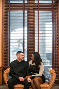 Gladine and Ryan Engagement Mainstreet Station Richmond