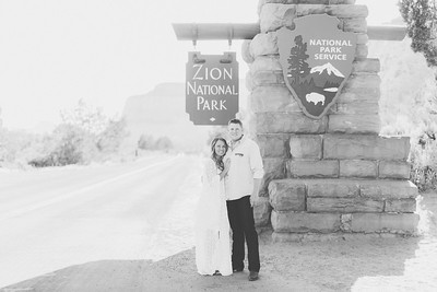 Jay & Rebecca Engagement in Zion