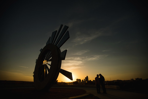 Sculpture Wide Sunset