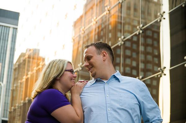 kathleen + steve | engagement | downtown detroit