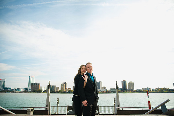 lindsey + dave | engagement | downtown detroit