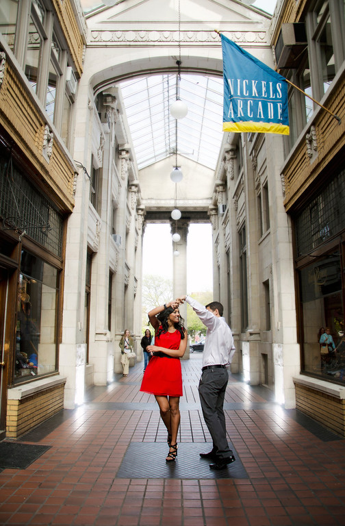 nicole + anthony | engagement | downtown ann arbor