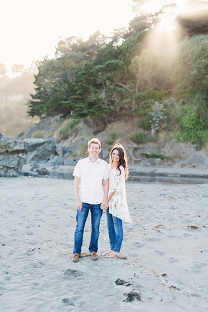 Rachel & Sam Muir Beach Engagement