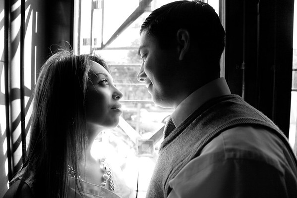 Engagement session in downtown Fresno, CA