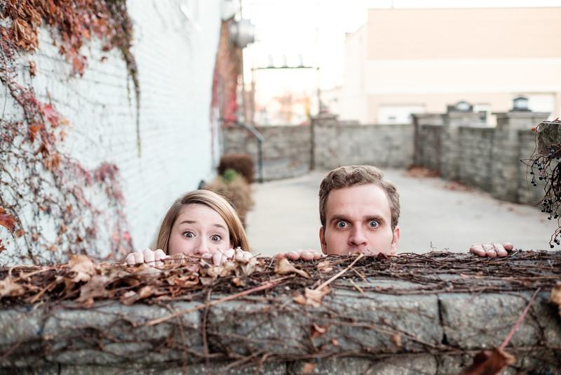Meagan & Jon's Downtown fall engagment portraits