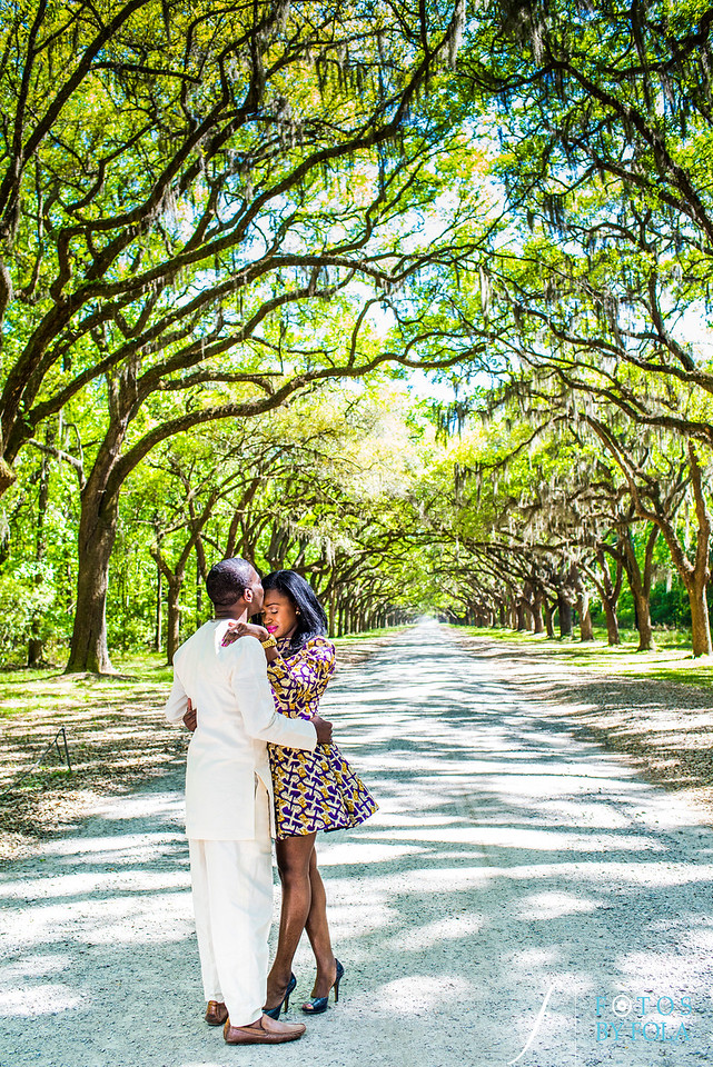 Chisom + Izu Romantic Southern Engagement Session | Wormsloe Plantation Savannah | River Street Savannah | Old Sheldon Church Ruins South Carolina | Fotos by Fola | Atlanta Wedding Photographer | Savannah Wedding Photographer | South Carolina Wedding Photographer