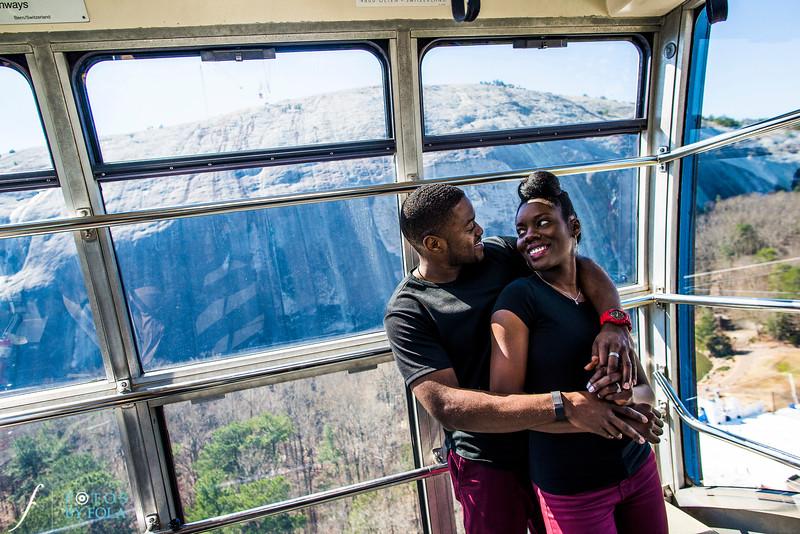 Temi + San'Quan Stone Mountain Engagement Session | Fotos by Fola | Atlanta Wedding Photographers