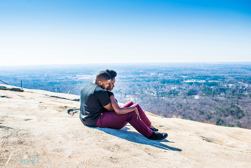 Temi + San'Quan Stone Mountain Engagement Session | Fotos by Fola | Atlanta Wedding Photographers