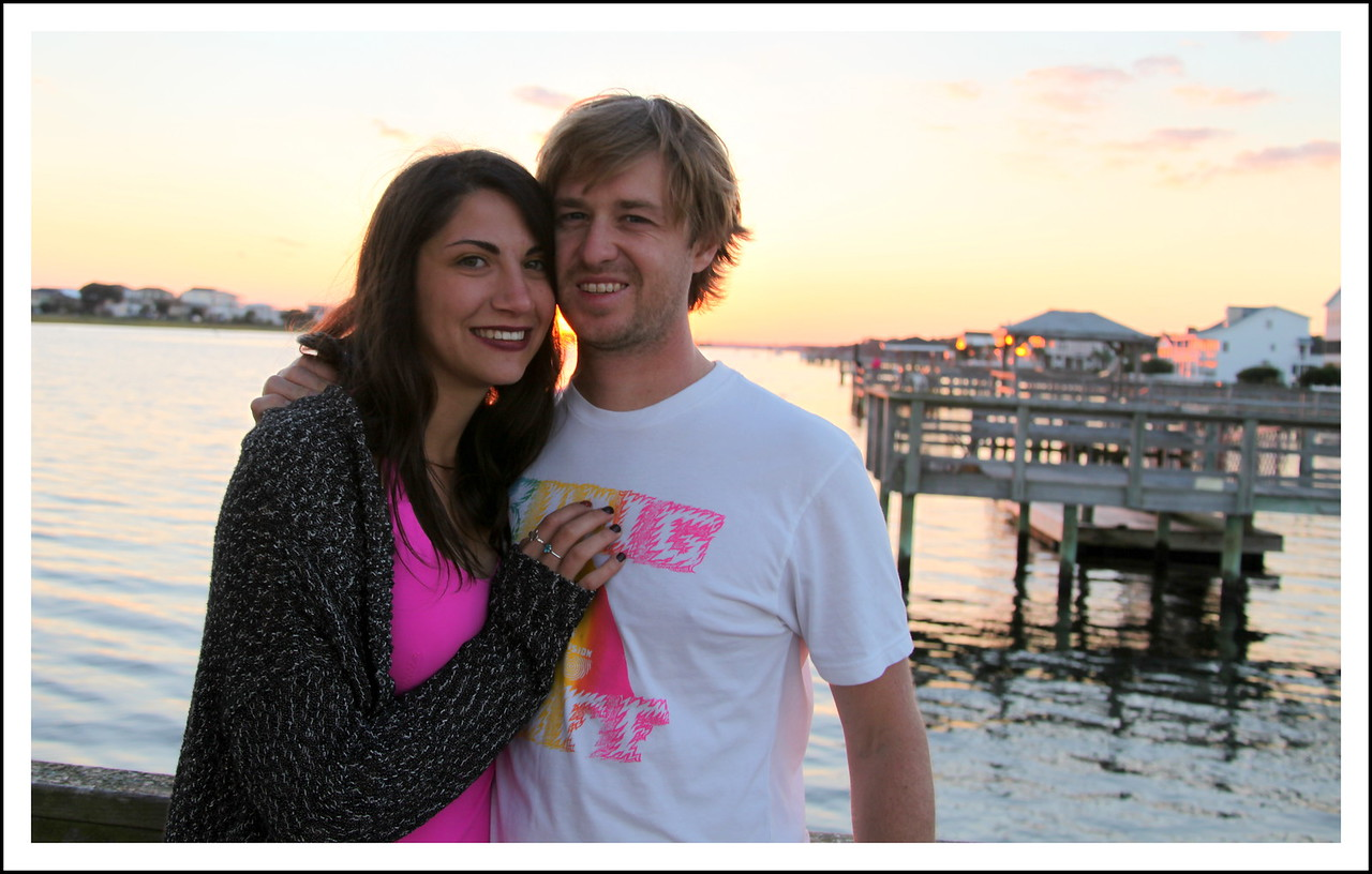 Chris and Jessica hanging out in Holden Beach, North Carolina.