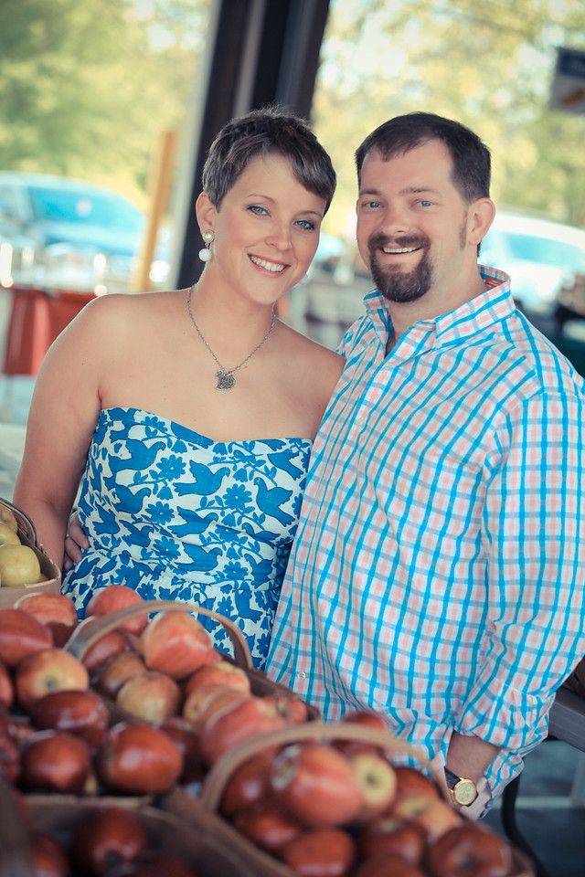 Bryce Lafoon Photography, photographs an engagement session at the Farmers Market in Raleigh, North Carolina.