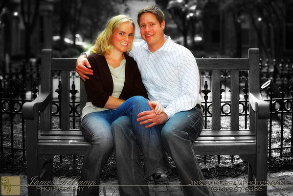 Christy Curtin and Bryce Monson Engagement Session photographed September 15, 2009. (© James D. DeCamp   http://www.OurDreamPhotos.com   614-367-6366)