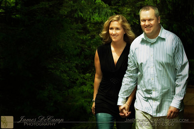 Engagement portrait session with Jaclyn (Jackie) Rea Popa and Marc Armstrong at the Innis Woods Metro Park Sunday afternoon May 16, 2010  (© James D. DeCamp | http://www.OurDreamPhotos.com | 614-367-6366)