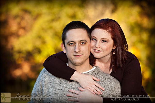 Engagement photo session with John McCullough and Lindsay Wagner Friday afternoon October 22, 2010 at Innis Woods Metro Park.  (© James D. DeCamp   http://www.OurDreamPhotos.com   614-367-6366)