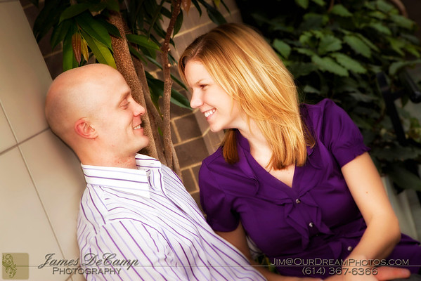 Engagement session with Rachel Scott and Brandon Wright at the Franklin Park Conservatory Saturday afternoon April 2, 2011. (Photo © James D. DeCamp | 614-367-6366 | http://www.OurDeamPhotos.com)